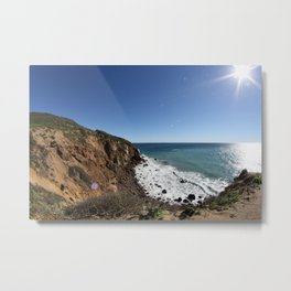 Cliffs of Point Dume Metal Print