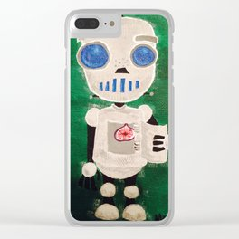 Tasty Robot Love Clear iPhone Case