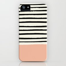 Peach x Stripes Slim Case iPhone (5, 5s)