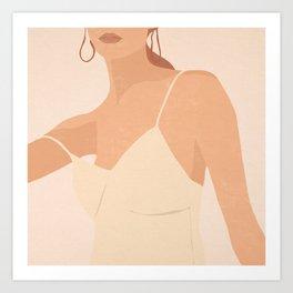 Minimal Art Girl 14 Art Print
