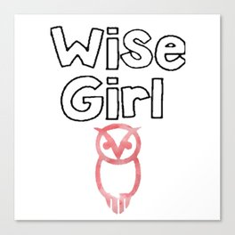 wise girl Canvas Print