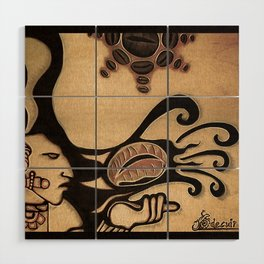 Prehispanic coffee Wood Wall Art