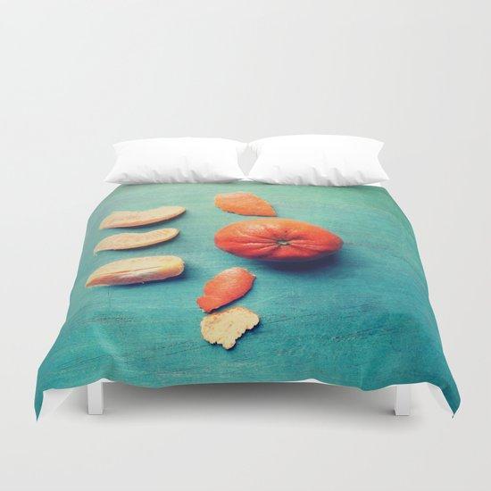 Orange Wedge Duvet Cover