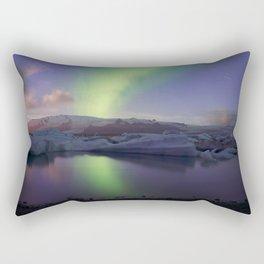 Northern Lights Iceland Rectangular Pillow