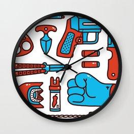 Street weapons Wall Clock
