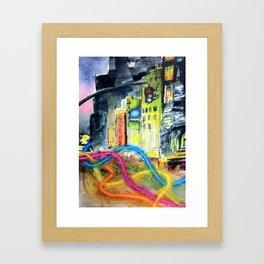 We Move Like Beams of Light Framed Art Print