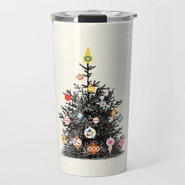 Retro Decorated Christmas Tree Travel Mug