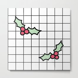 Holly Grid Metal Print