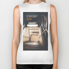 New York City Subway Biker Tank