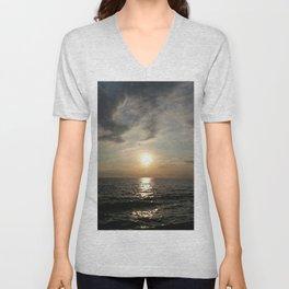 Port Sunset Photo Unisex V-Neck