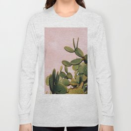 Cactus on Pink Sky Long Sleeve T-shirt