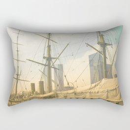 Vintage Old Ship Rectangular Pillow