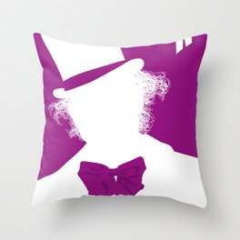 Willy Wonka Tribute Poster Throw Pillow
