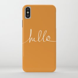 Hello, Pumpkin iPhone Case