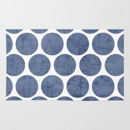 blue polka dots Rug
