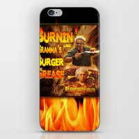 grease iPhone & iPod Skins featuring Burn Like Gramma's Burger Grease by Big Tasty