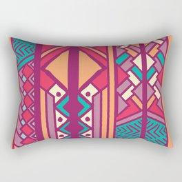 Tribal ethnic geometric pattern 001 Rectangular Pillow