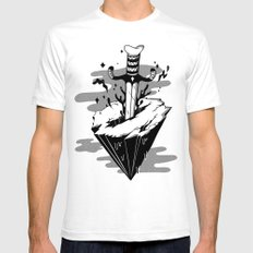 Releasing Dark Matter SMALL Mens Fitted Tee White