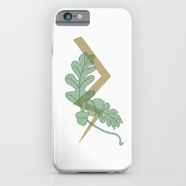 Oak and Lighting Bolt iPhone Case