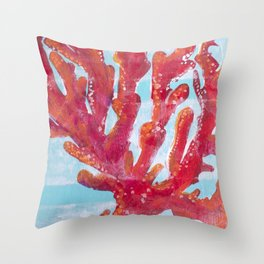 RedCoral Throw Pillow