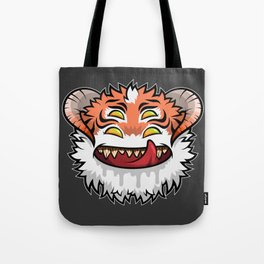 Diabolical Fuzzball (tiger) Tote Bag