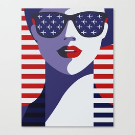USA Flygirl Canvas Print