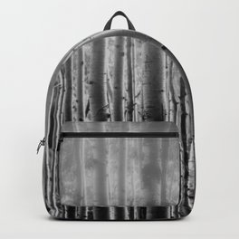 Black Bird Crow Tree Birch Forrest Black White Country Art A135 Backpack