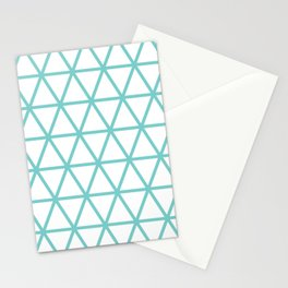 Aqua Triangle Pattern 2 Stationery Cards