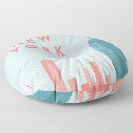 New York New York Floor Pillow