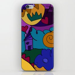 """""""Before the Celebration"""" bold, colorful doodle art iPhone Skin"""