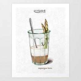 La Cuisine Fusion - Aspargus Latte Art Print