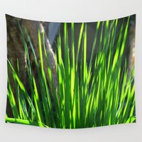grass Wall Tapestries featuring grass by flora cyclam