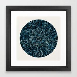 Intimate Portrait in Blue Framed Art Print