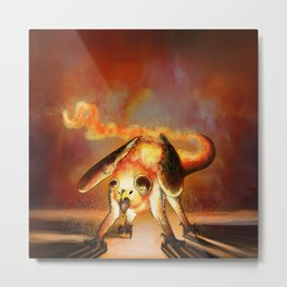 Flaming Return Metal Print