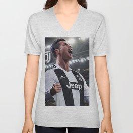 Cristiano Ronaldo Juve CR7 Unisex V-Neck