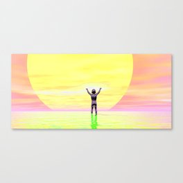 Sun Worshipper. Canvas Print