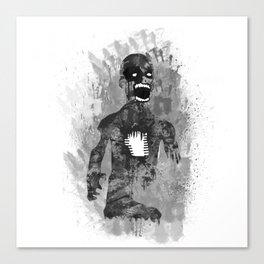 Zombie Scream Canvas Print