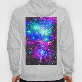 Fox Fur Nebula Galaxy Pink Purple Blue Hoody