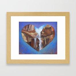 Lower Calf Creek Falls Framed Art Print