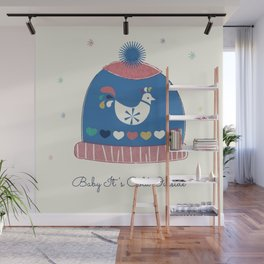 Baby it's cold outside- winter hat Wall Mural
