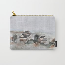 Japanese ancient city in fogging day Carry-All Pouch