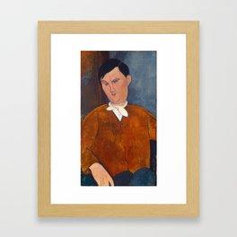 Amedeo Modigliani, Monsieur Deleu, 1916 Framed Art Print