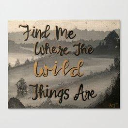 Wild Things Canvas Print