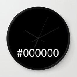 #000000 Black Wall Clock