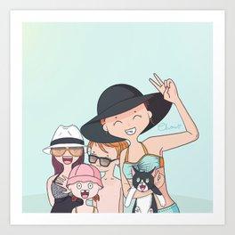 Summer's Fever Art Print