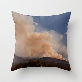 Cedar City Forest Fire - II Throw Pillow