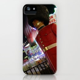 Toy Soldier At A Christmas Fair, Hyde Park, London, England iPhone Case