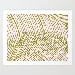 Tropical boho palms Art Print