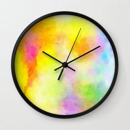 Watercolour Wash Wall Clock