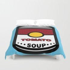 Warhol's Tomato Soup Duvet Cover